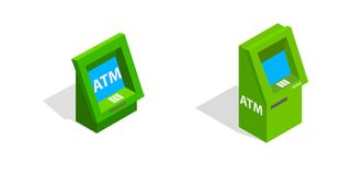 ATM - Máquina de caixa automatizado ilustração royalty free