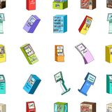 ATM, máquina do café, instrumento da informação e outros tipos de terminais Ícones da coleção do grupo de terminais no estilo dos Fotos de Stock
