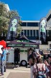 ATM móvel na margem sul de Brisbane, Austrália imagem de stock
