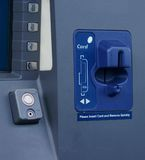 ATM machine. ATM drive through machine card slot Royalty Free Stock Photos