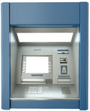 ATM machine. With blank screen. 3D render vector illustration