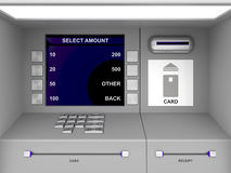 ATM machine. Details of gray ATM machine royalty free illustration