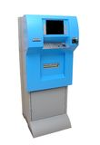 Atm machine. Isolated atm machine on white background stock images
