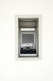 Atm machine. In the white room Royalty Free Stock Image
