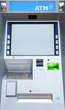 ATM machine. Blank screen Royalty Free Stock Photography