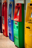 Atm machine. The colorful of atm machines Stock Photo