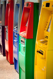 Atm machine. The colorful of atm machines Royalty Free Stock Image