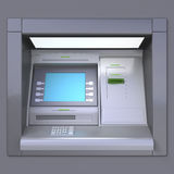 ATM machine. 3D illustration of outdoor ATM machine. Image include several clipping paths for easily extraction background, screen etc stock illustration