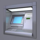 ATM machine. 3D illustration of outdoor ATM machine. Image include several clipping paths for easily extraction background, screen etc vector illustration