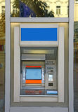 ATM machine. On the glass facade Royalty Free Stock Images