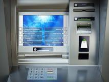 ATM machine. Automated teller bank cash machine. Stock Photo