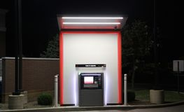 ATM Machine. An Automated Teller Machine dispenses money to bank customers around the clock Stock Photography