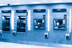 Atm machine. In the bank Royalty Free Stock Image