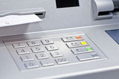 ATM machine in bank Royalty Free Stock Images