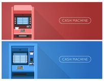 ATM machine in bank or office. Banners Stock Photos