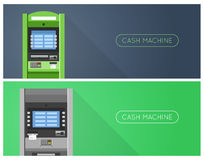 ATM machine in bank or office. Banners Stock Photo
