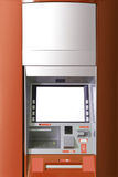 ATM machine with blank space for AD. stock images