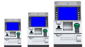 ATM Machine Blue Screen Display (repeat) stock video footage