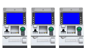 ATM Machine Blue Screen Display (repeat) stock footage
