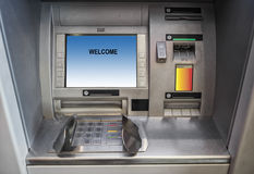 Atm machine. Close up of a ATM banking machine stock photos