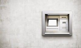 ATM machine concrete background Stock Photos