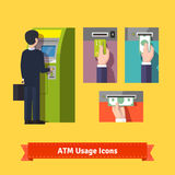 ATM machine deposit Royalty Free Stock Image