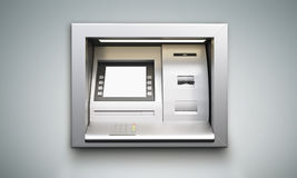 ATM-machine grijze achtergrond Royalty-vrije Stock Afbeelding