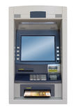 Atm machine. Isolated with 50 euro bill Royalty Free Stock Images