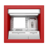 ATM machine isolated on white Stock Images