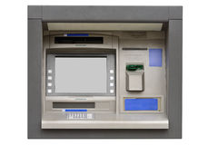 ATM machine isolated on white background Stock Images