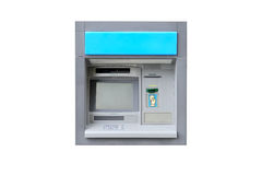 ATM machine isolated on white background Royalty Free Stock Photography