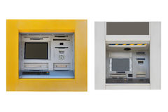 ATM machine isolated on white background Stock Photos