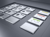 ATM machine keypad. Numbers - 3d render Stock Photo