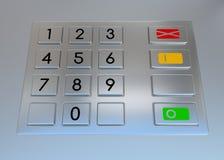 Atm machine keypad Stock Photo