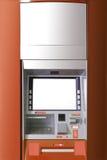 ATM-machine met lege ruimte voor ADVERTENTIE stock afbeeldingen