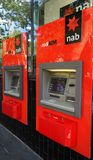 ATM machine of National Australia Bank NAB. Royalty Free Stock Image