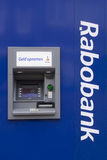 Atm machine rabobank Royalty Free Stock Images