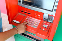 Atm machine service for people. Stock Photos
