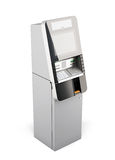 ATM machine  on white background. 3d. ATM machine  on white background. 3d rendering Royalty Free Stock Photography