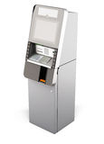 ATM machine  on white background. 3d. Stock Images