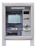 ATM machine  on white background Royalty Free Stock Photography