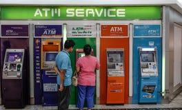 ATM-Machines in Bangkok, Thailand royalty-vrije stock afbeelding