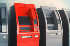ATM machines side Royalty Free Stock Images