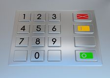 ATM-machinetoetsenbord stock illustratie