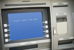 Atm macines. Two exterior bank ATM machines Stock Images