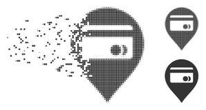 ATM mapy markiera nicestwienia piksla Halftone ikona Zdjęcie Stock