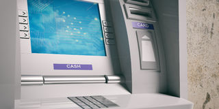 ATM-Maschinennahaufnahme Abbildung 3D Lizenzfreies Stockbild