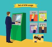 Atm-maskin vektor illustrationer