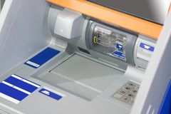 Atm-maskin och maskin för kontant insättning Arkivbild