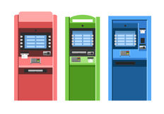 ATM maszyn wektoru set Obraz Stock
